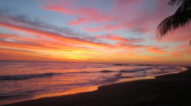 sunset El Transito