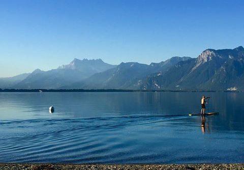 calm lake mtns